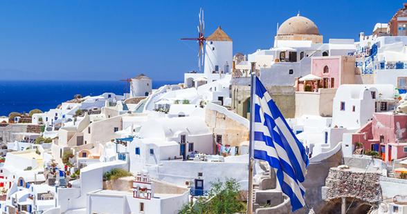 ギリシャの街並み