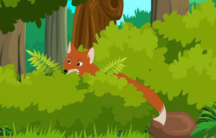 a fox aiming for prey