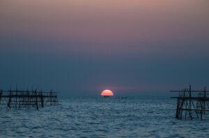 the sun began to set