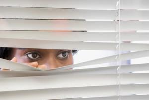 peeping through